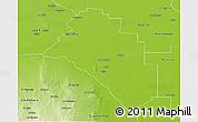 Physical 3D Map of Salavina