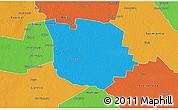 Political 3D Map of San Martin