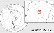 Blank Location Map of San Martin