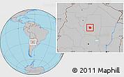 Gray Location Map of San Martin