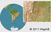 Satellite Location Map of San Martin
