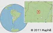 Savanna Style Location Map of San Martin