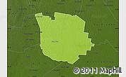 Physical Map of San Martin, darken