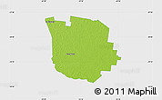 Physical Map of San Martin, single color outside