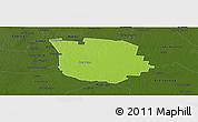 Physical Panoramic Map of San Martin, darken