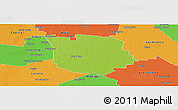 Physical Panoramic Map of San Martin, political outside