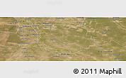 Satellite Panoramic Map of San Martin