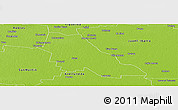 Physical Panoramic Map of Sarmiento