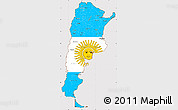 Flag Simple Map of Argentina, flag centered