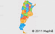 Political Simple Map of Argentina, cropped outside