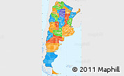 Political Simple Map of Argentina, single color outside