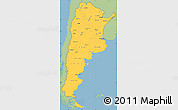 Savanna Style Simple Map of Argentina, single color outside