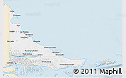 Classic Style 3D Map of Tierra del Fuego, single color outside
