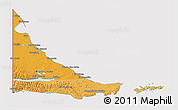 Political Shades 3D Map of Tierra del Fuego, cropped outside