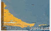 Political Shades 3D Map of Tierra del Fuego, darken
