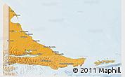 Political Shades 3D Map of Tierra del Fuego, lighten