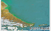 Satellite 3D Map of Tierra del Fuego