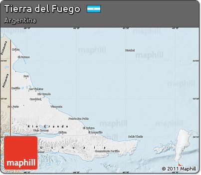 Classic Style Map of Tierra Del Fuego