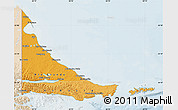 Political Shades Map of Tierra del Fuego, lighten