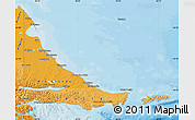 Political Shades Map of Tierra del Fuego