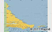 Savanna Style Map of Tierra del Fuego, single color outside