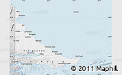 Silver Style Map of Tierra del Fuego