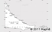Silver Style Simple Map of Tierra del Fuego, cropped outside