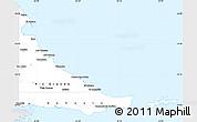 Silver Style Simple Map of Tierra del Fuego, single color outside