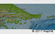Physical 3D Map of Ushuaia (Is.), darken