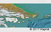 Physical 3D Map of Ushuaia (Is.), satellite outside