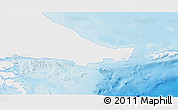 Physical 3D Map of Ushuaia (Is.), single color outside