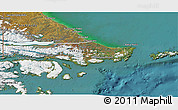 Satellite 3D Map of Ushuaia (Is.)