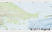 Physical Map of Ushuaia (Is.), lighten