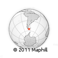 Outline Map of Ushuaia (Is.)
