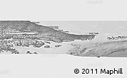 Physical Panoramic Map of Ushuaia (Is.), desaturated