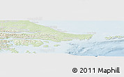 Physical Panoramic Map of Ushuaia (Is.), lighten