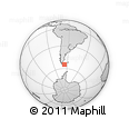 Outline Map of Ushuaia