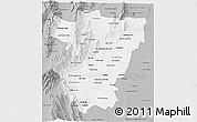 Gray 3D Map of Tucuman