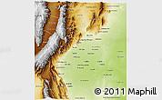Physical 3D Map of Tucuman