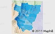 Political Shades 3D Map of Tucuman, lighten