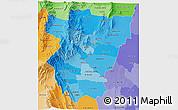 Political Shades 3D Map of Tucuman