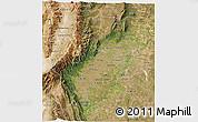 Satellite 3D Map of Tucuman
