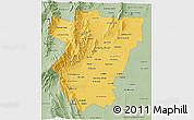 Savanna Style 3D Map of Tucuman