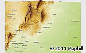 Physical 3D Map of Burruyacu