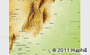 Physical Map of Burruyacu