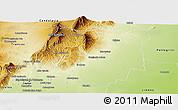 Physical Panoramic Map of Burruyacu
