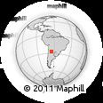 Outline Map of Cruz Alta