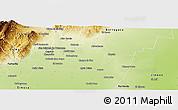 Physical Panoramic Map of Cruz Alta