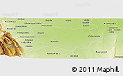 Physical Panoramic Map of Graneros