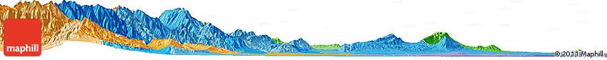 Political Shades Horizon Map of Tucuman